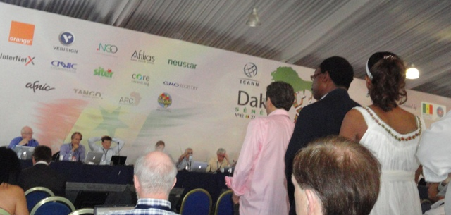 Sophia Bekele at ICANN 42 Forum Dakar