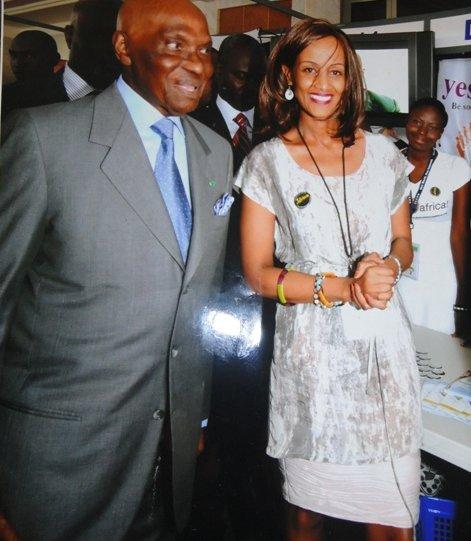 Sophia Bekele with President Wade of Senegal
