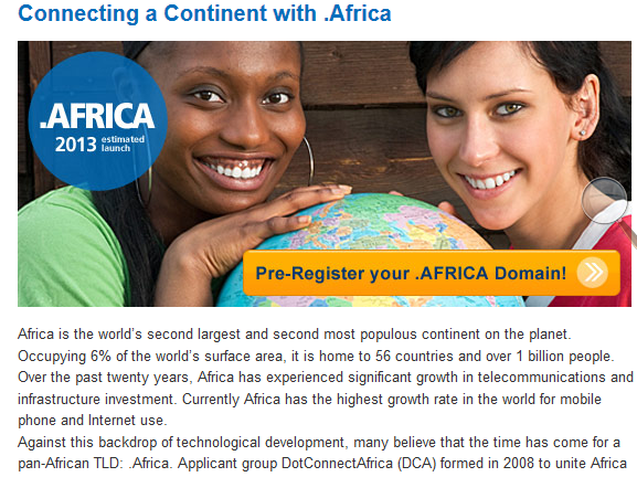 United Domian Pre-registration .africa