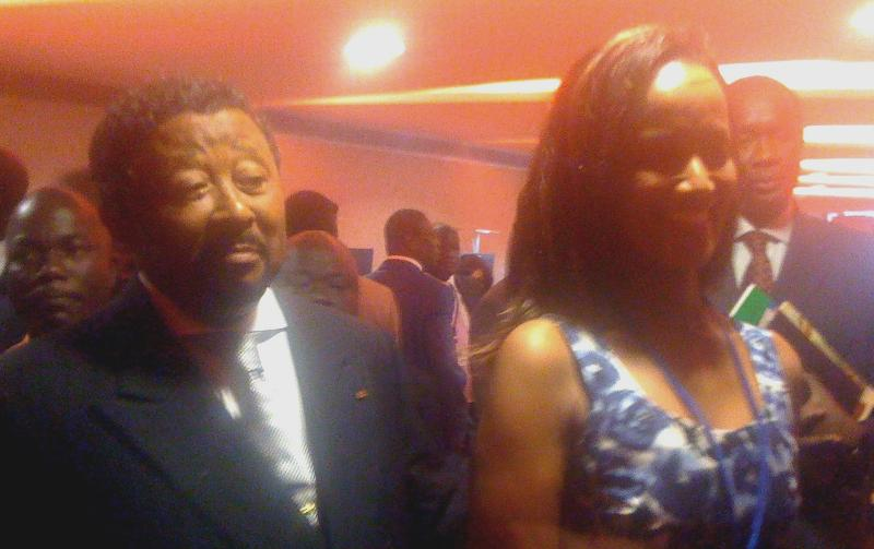 Sophia Bekele with Dr.Jean Ping