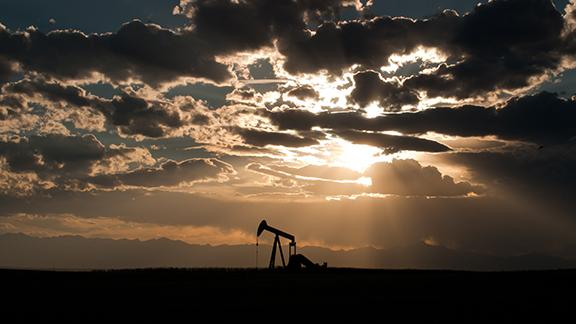 Oil and Sunset
