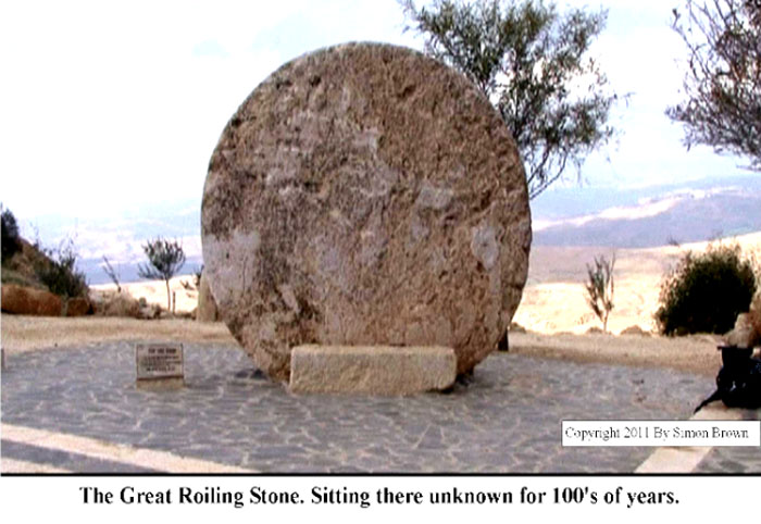 The Great Stone, Mark 16:4.