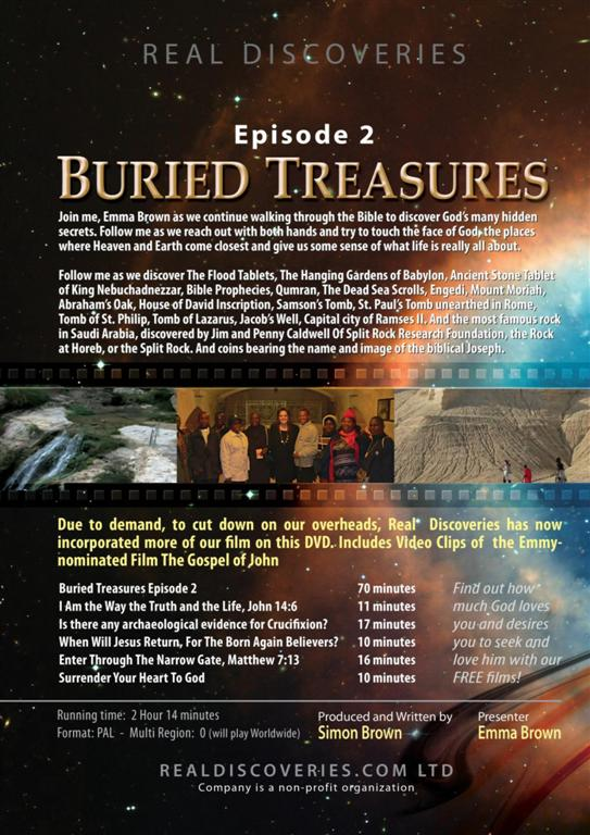 Back cover of Buried Treasures Episode 2
