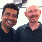 George Lopez with Prof. Nate Brown