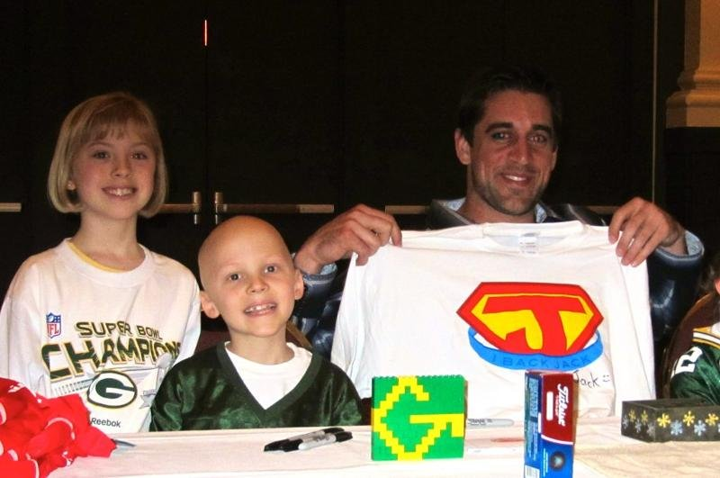 Jack, Annie, and Aaron Rodgers
