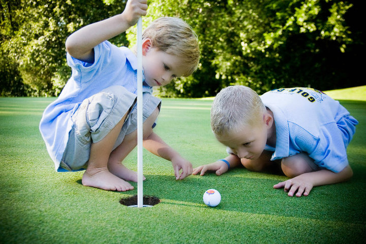 Jack and Friend putting green