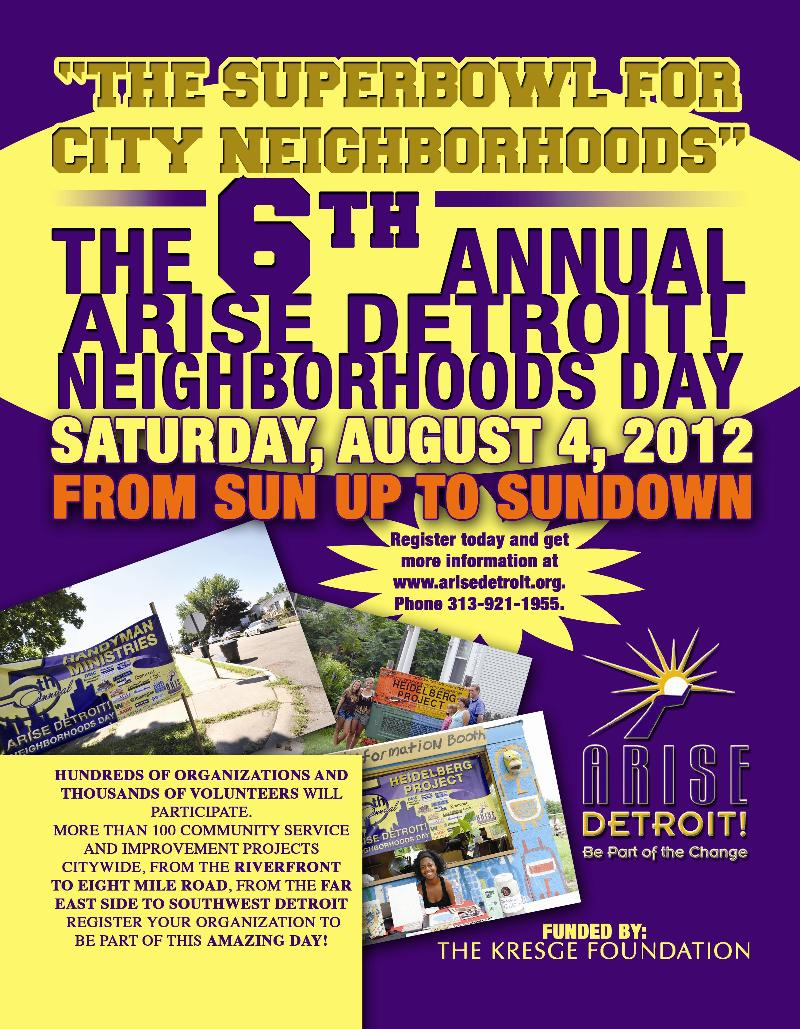 Neighborhoods Day 2012 flyer - front