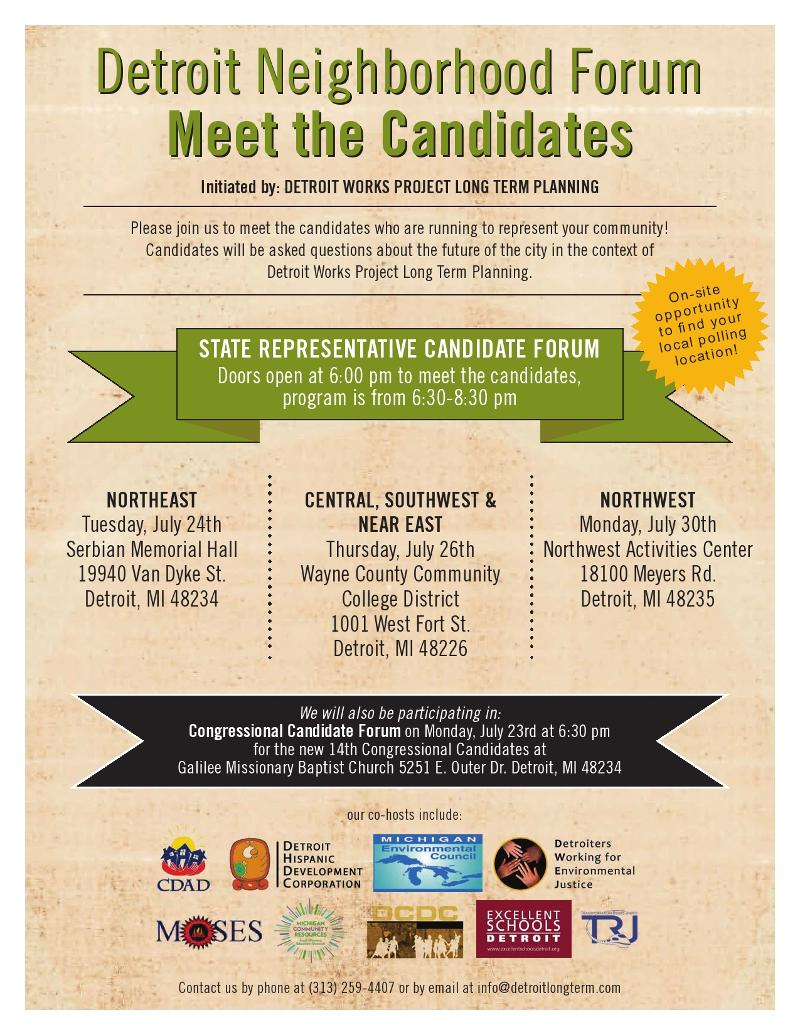 Detroit Works Project - Candidate Forum