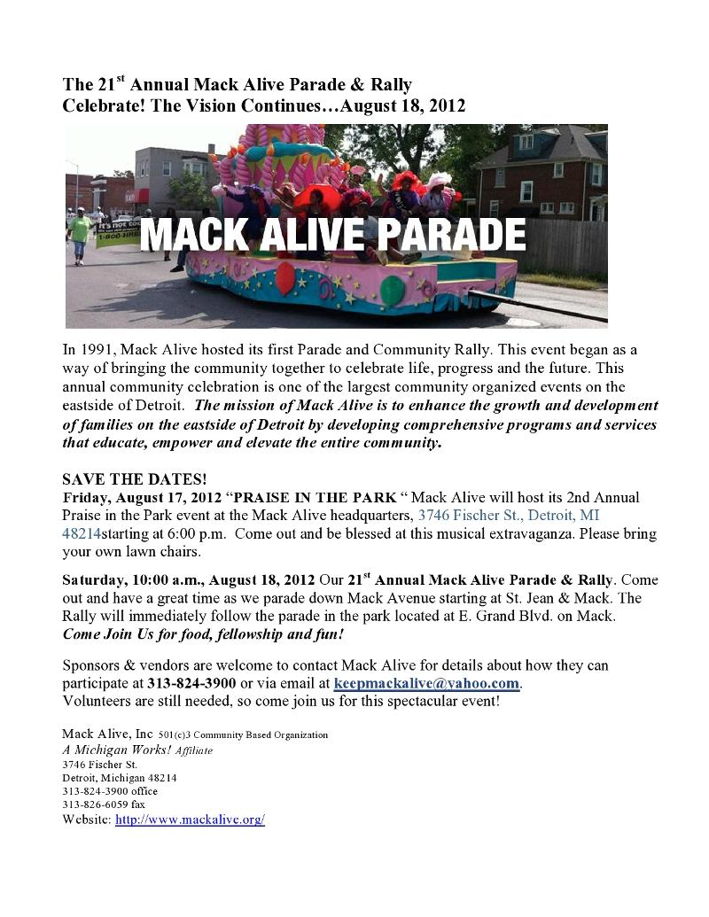 Press Release-Mack Alive 21st Annual ParadeRally