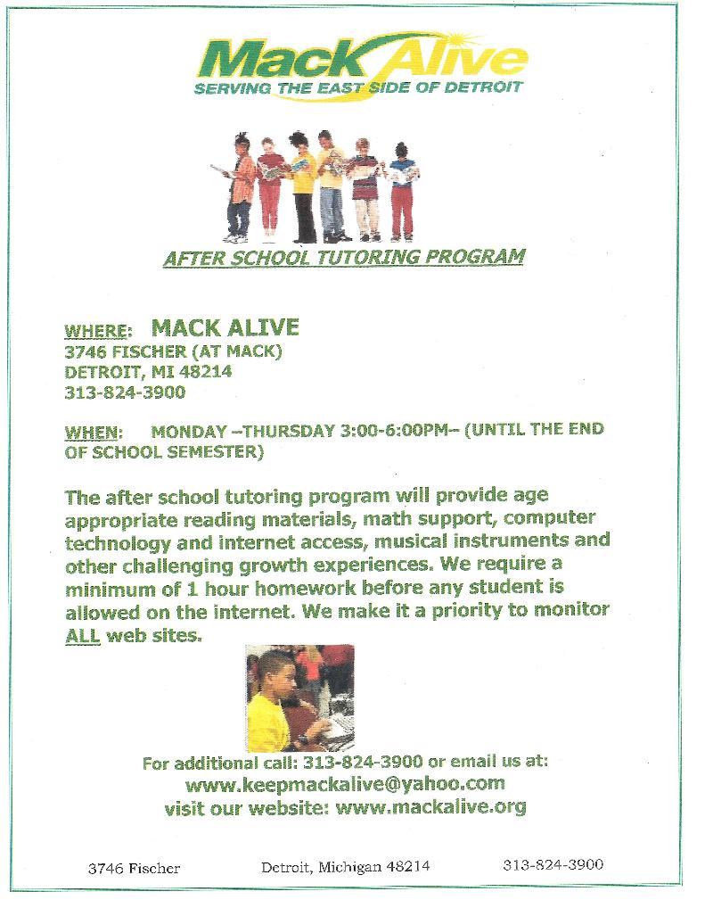 Mack Alive after school program