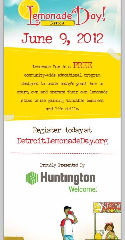 lemonade stand flyer template