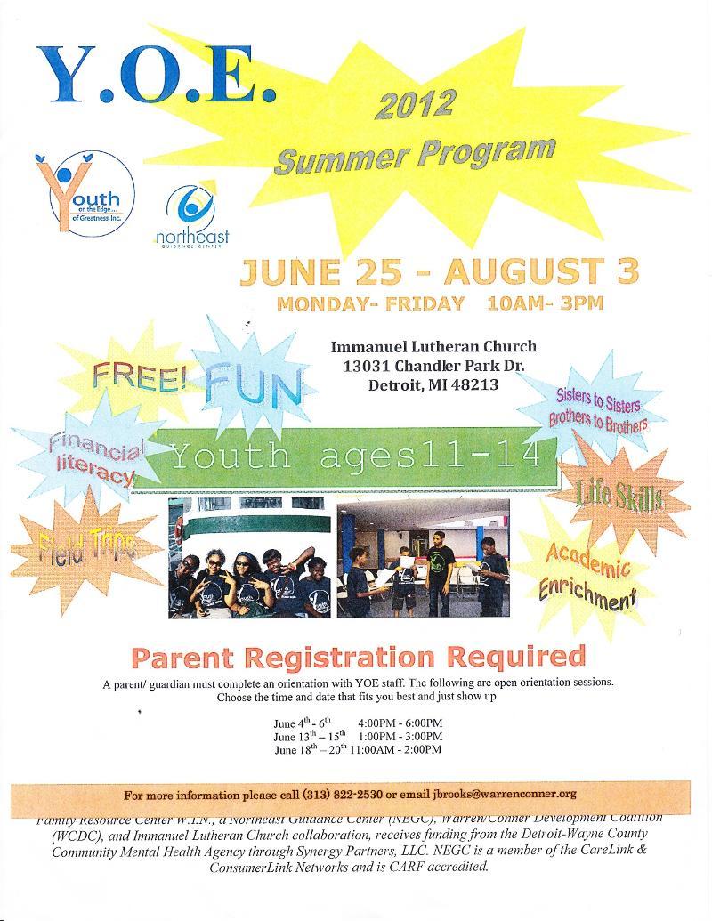 YOE summer program