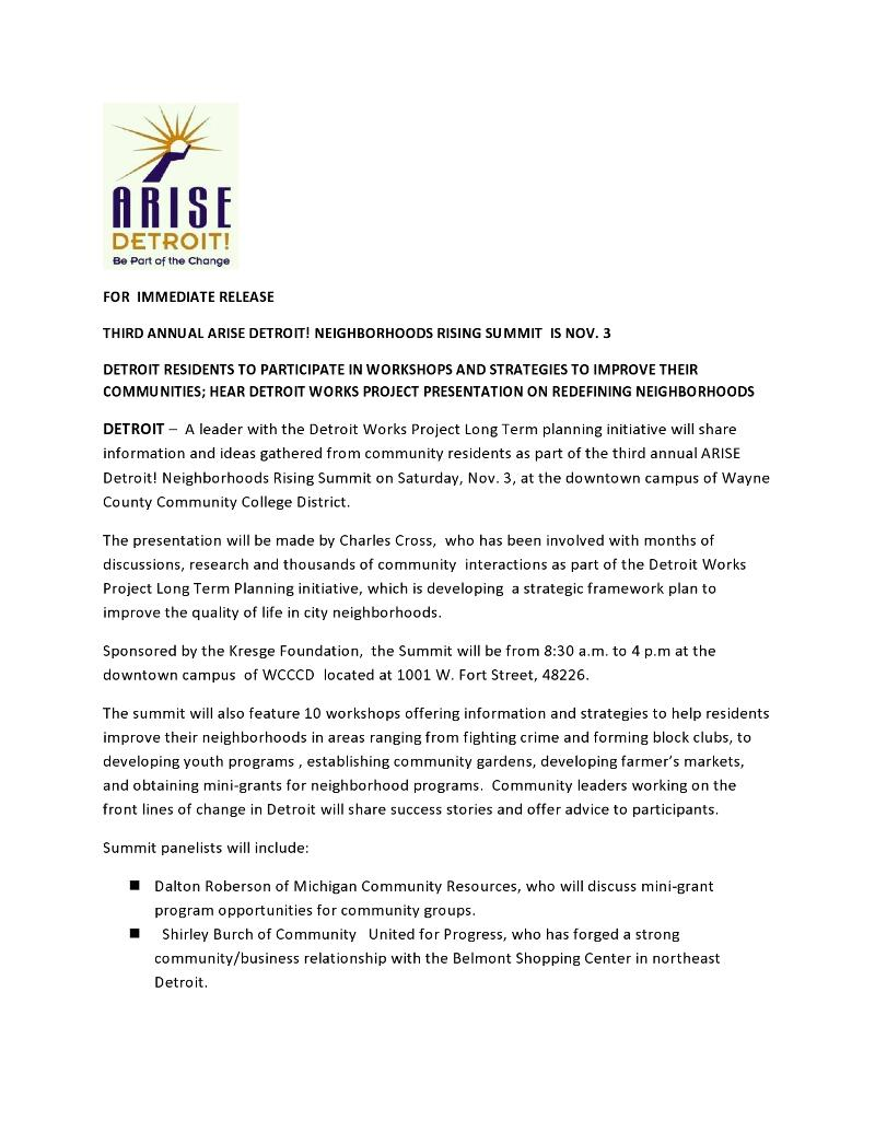 Summit press release page 1