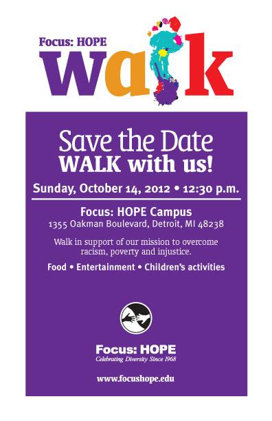 FocusHOPE Walk 2012