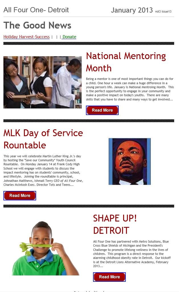 Jan 2013 Arise Detroit Inc Inspire Connect Promote