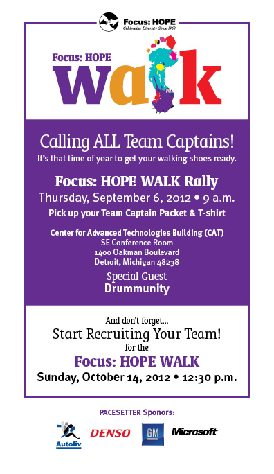 Focus HOPE Walk Rally