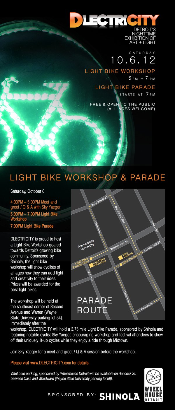 Dlectricity bike flyer
