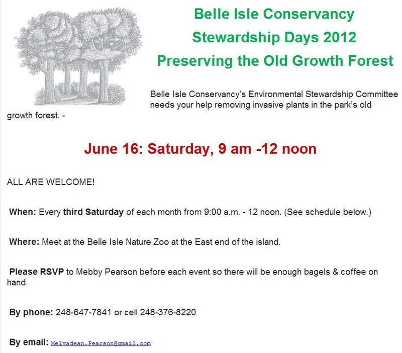 Belle Isle Stewardship Days 1