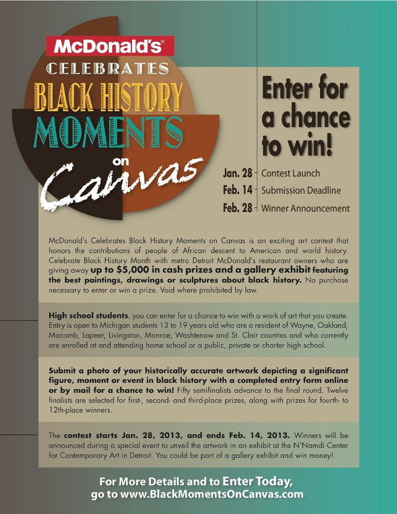 mcdonalds black history makers of tomorrow essay competition
