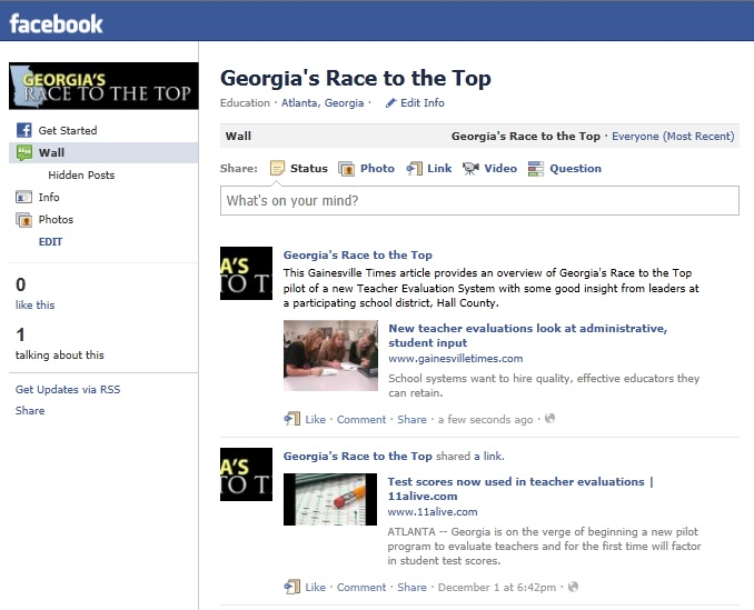 Georgia RT3 Facebook Page