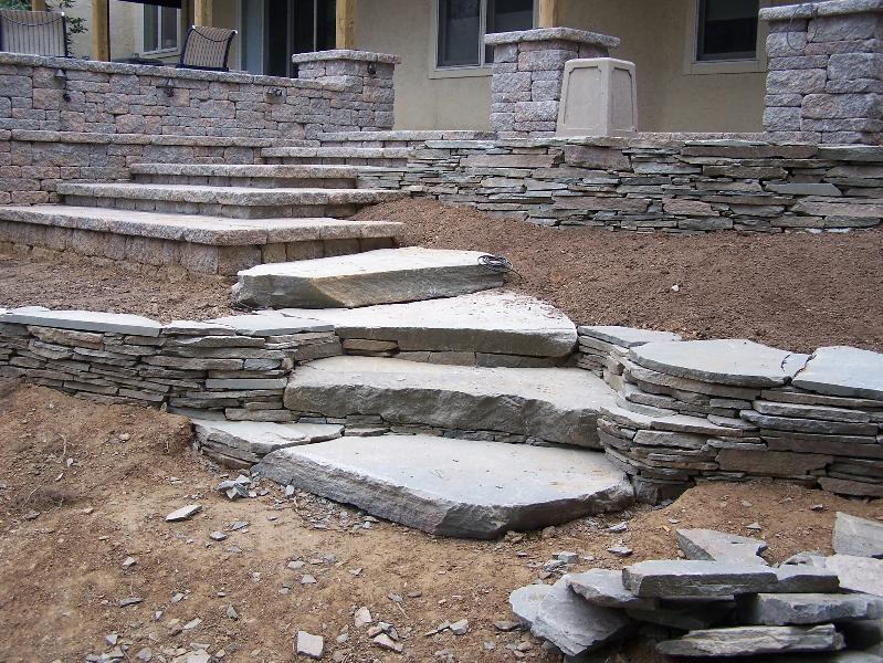 Steps leading to Patio