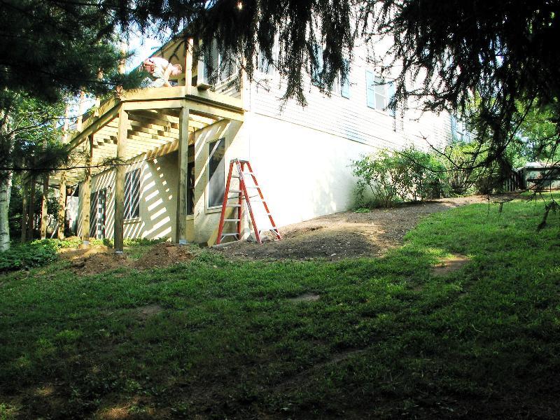 Corner of House Deck Instilation