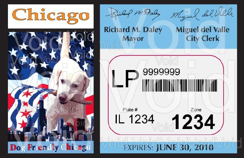 City of Chicago Parking Sticker 2009-10