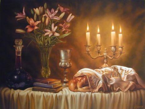 Shabbat Dinner Table
