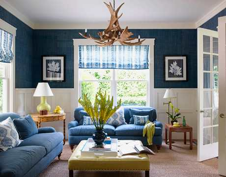blue room from House Beautiful