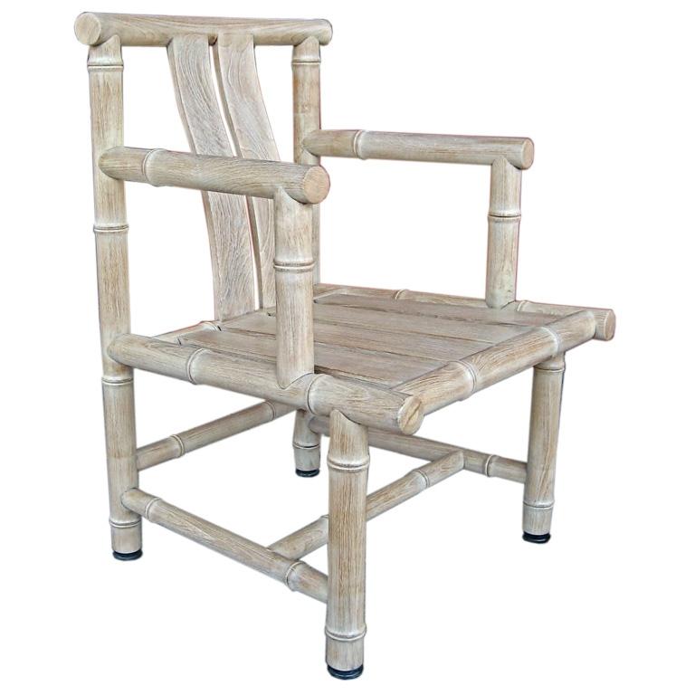 cerused teak chair