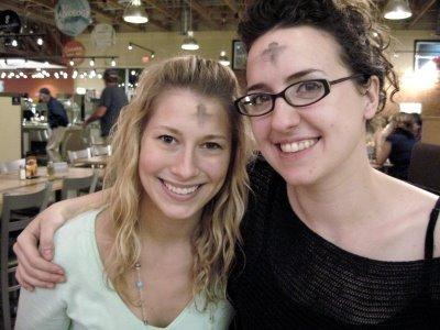 faces ladies ashen forehead