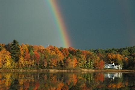 rainbow at Leverett Pone