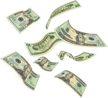 money falling smaller