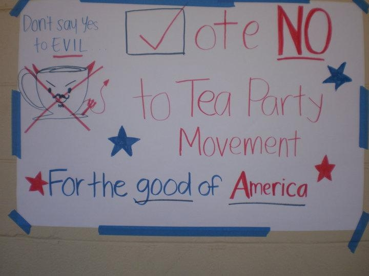 Anti TEA Party Poster at Kalani High