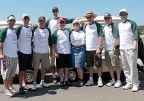 Denny's team at Golf Tourney