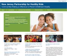 New Jersey Partnership for Healthy Kids Website
