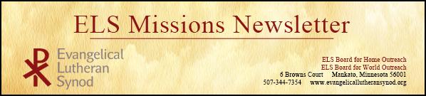 November 2014 Missions Newsletter