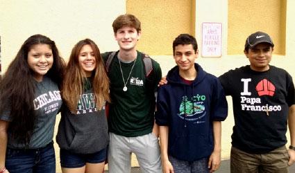 Mercy and Riordan lead 8th Grade Retreat