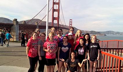 Cross Country Team at Golden Gate Bridge