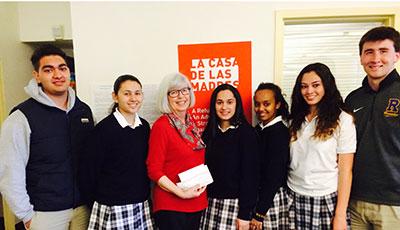 Donation to Casa de las Madres