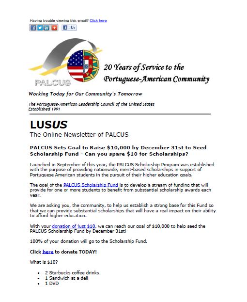Newsletter Screenshot