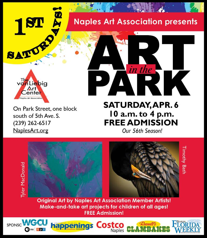 EVite: First Saturdays! Art in the Park, April 6