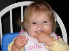 Regan eating