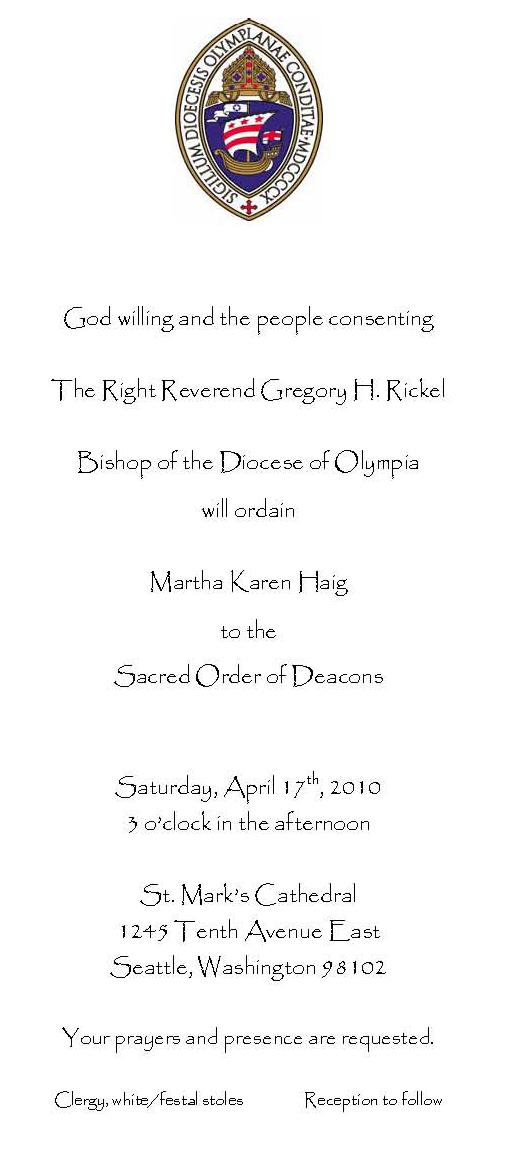 Deacon invite