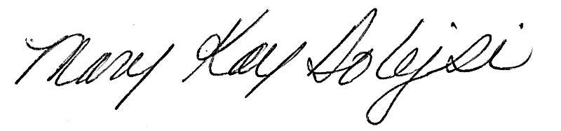MaryKay Dolejsi Signature