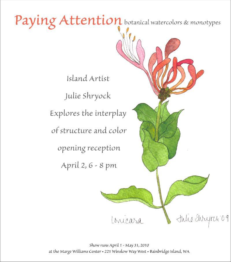 Julie Shryock, Paying Attention