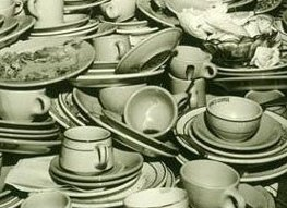 lots of dishes