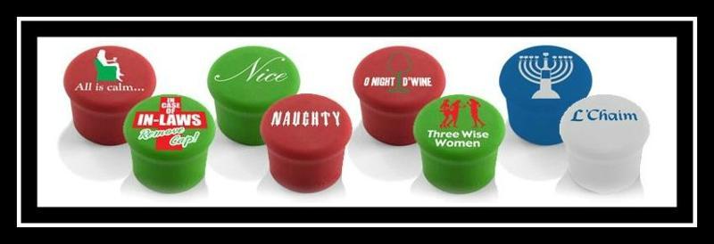 holiday wine caps