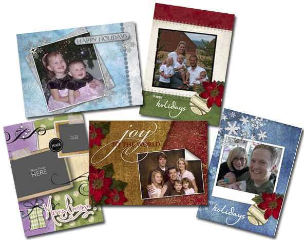 card christmas collage
