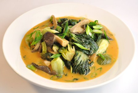 thai curry bok choy